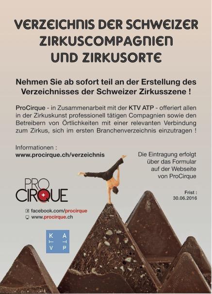 Verzeichnis der Schweizer Zirkuscompagnien und Zirkusorte