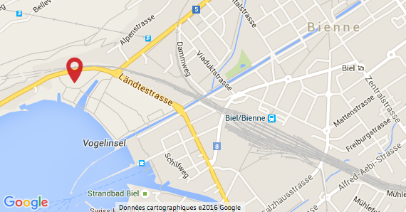 Plan AG Bienne - Karte GV Biel