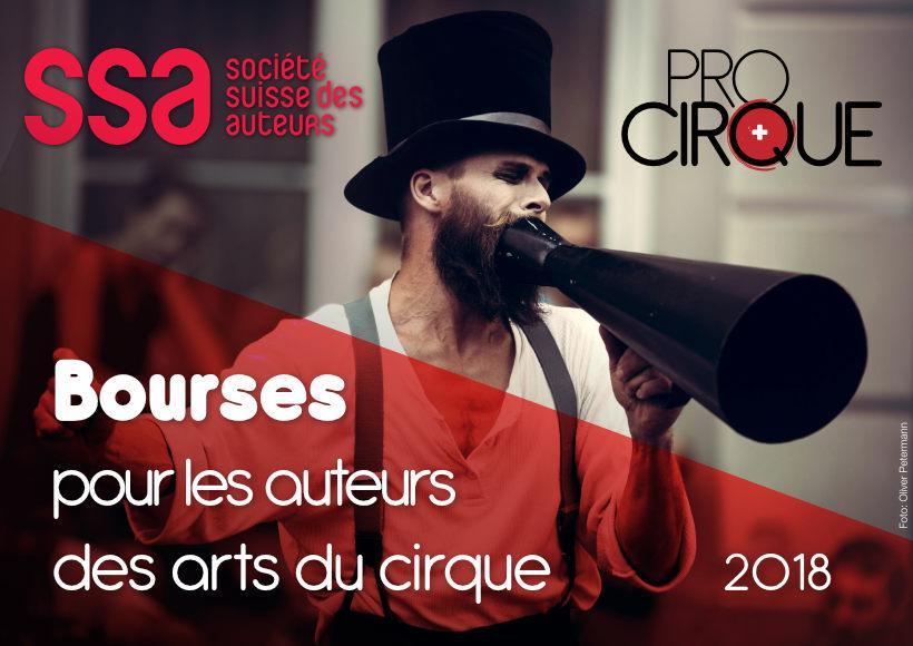 Bourses SSA ProCirque (2018) pou les auteurs en arts du cirque